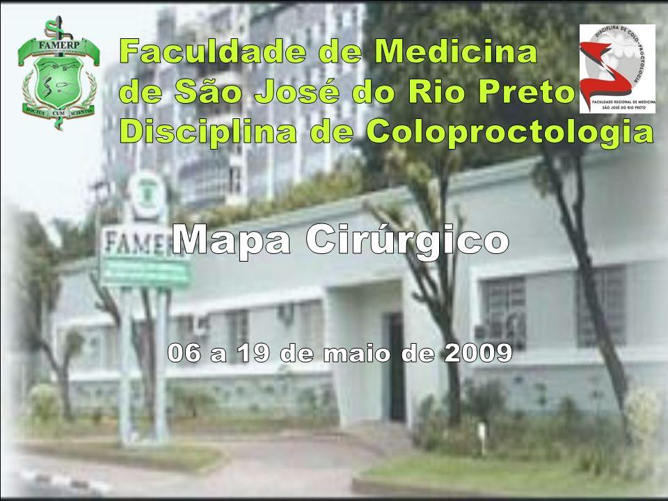 Mapa Cirúrgico Faculdade de Medicina de São José do Rio Preto