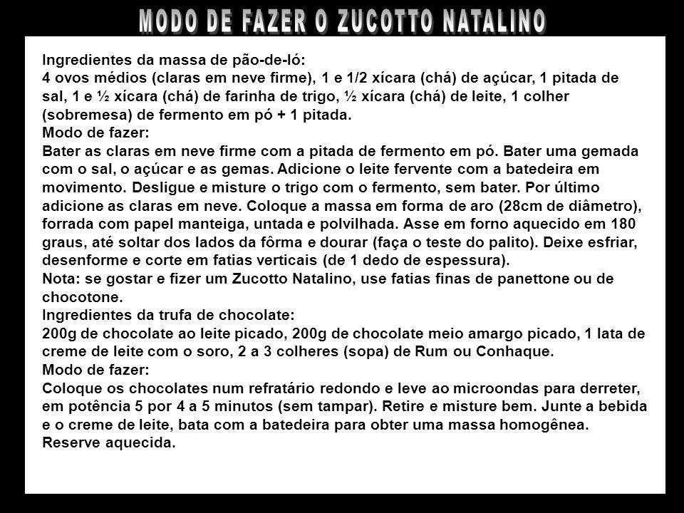 MODO DE FAZER O ZUCOTTO NATALINO