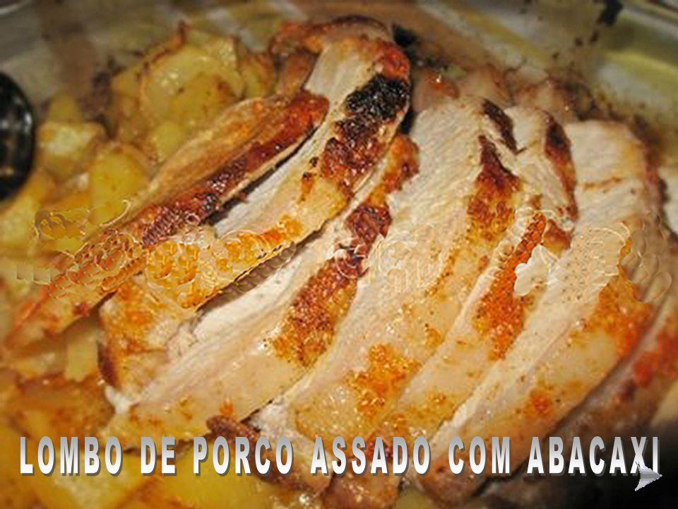 LOMBO DE PORCO ASSADO COM ABACAXI