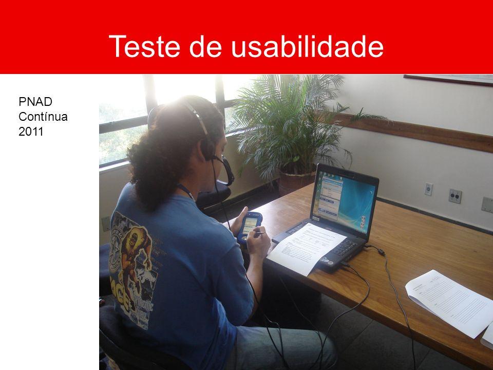 Teste de usabilidade PNAD Contínua 2011