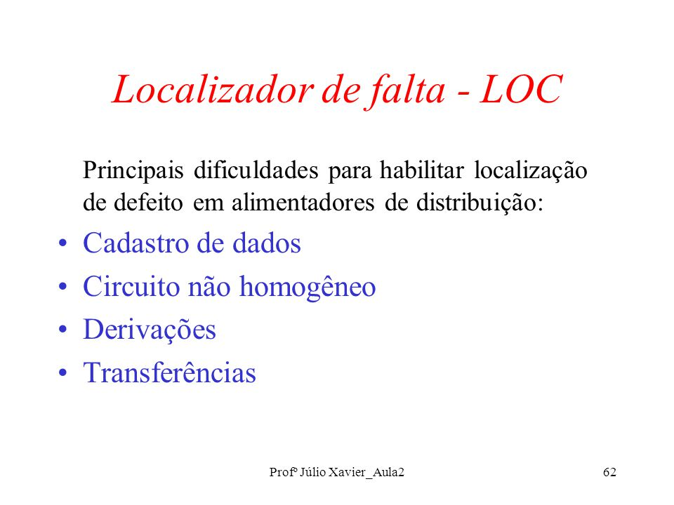 Localizador de falta - LOC