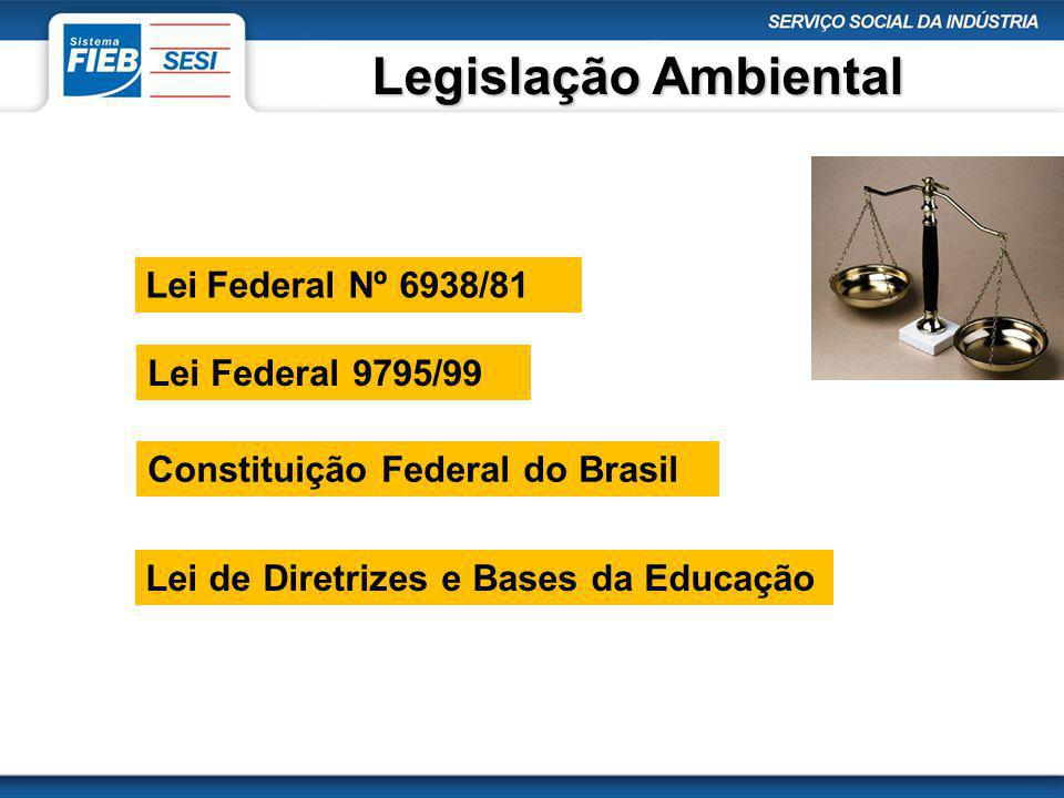 Legislação Ambiental Lei Federal Nº 6938/81 Lei Federal 9795/99