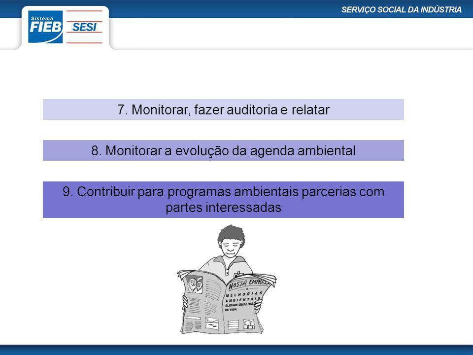 7. Monitorar, fazer auditoria e relatar