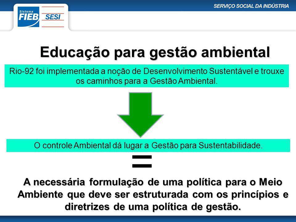 Educação para gestão ambiental