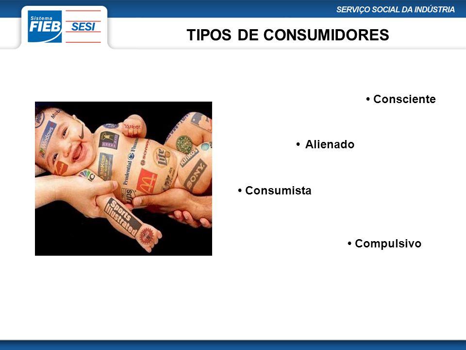 TIPOS DE CONSUMIDORES • Consciente • Alienado • Consumista