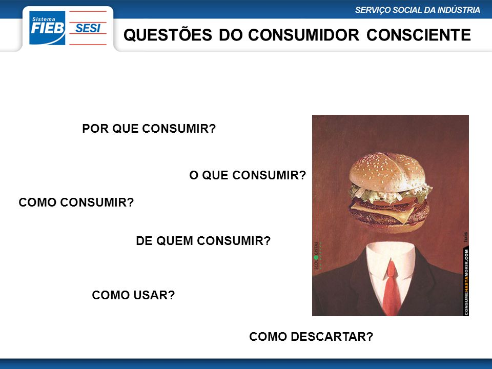 QUESTÕES DO CONSUMIDOR CONSCIENTE