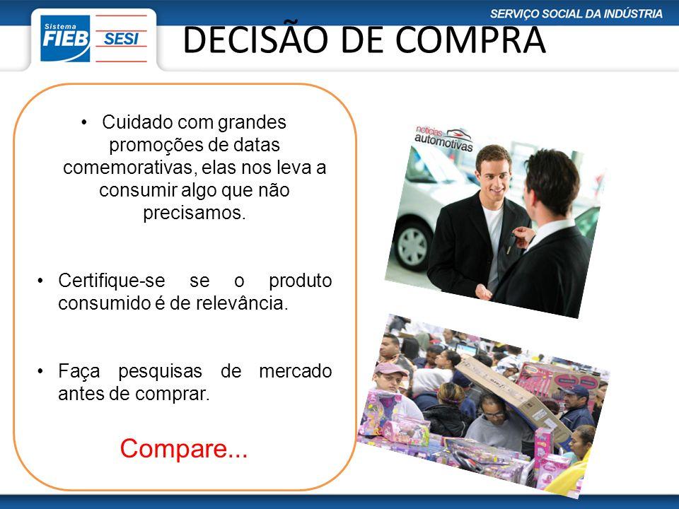 DECISÃO DE COMPRA Compare...