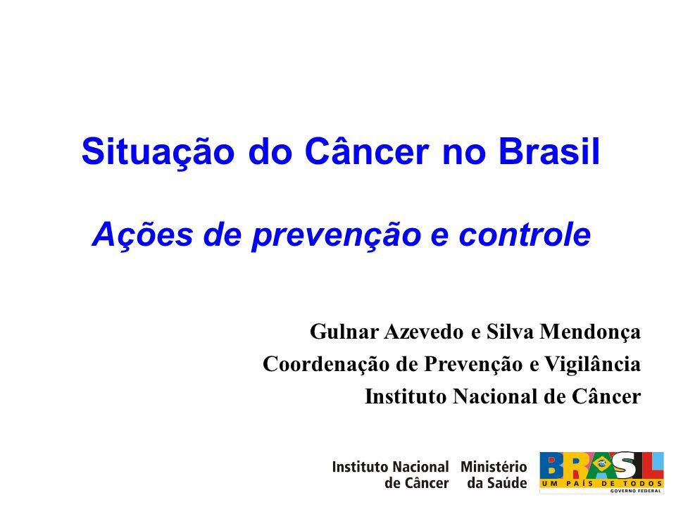 Situação do Câncer no Brasil Ações de prevenção e controle