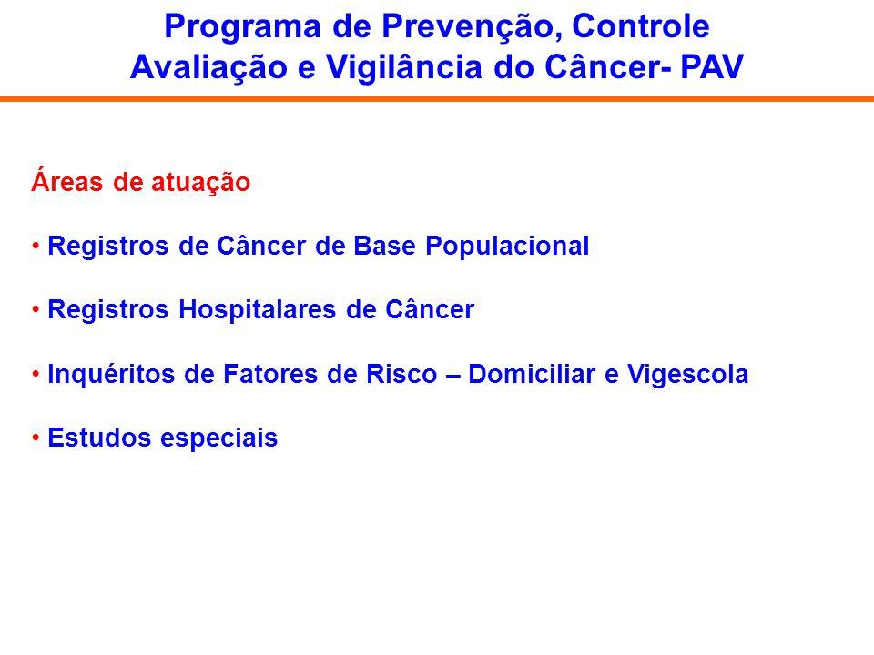Programa de Prevenção, Controle Avaliação e Vigilância do Câncer- PAV