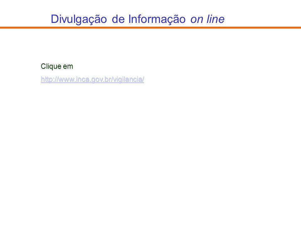 Divulgação de Informação on line