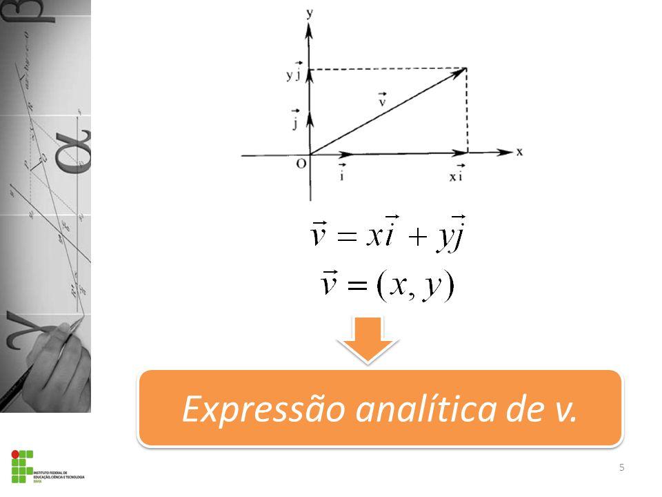 Expressão analítica de v.
