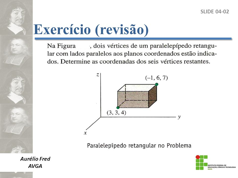 Exercício (revisão) SLIDE 04-02 Aurélio Fred AVGA