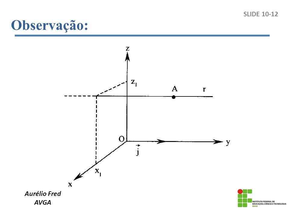 Observação: SLIDE 10-12 Aurélio Fred AVGA