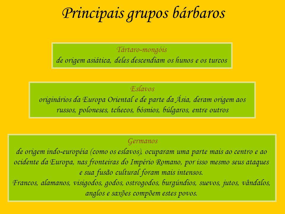 Principais grupos bárbaros