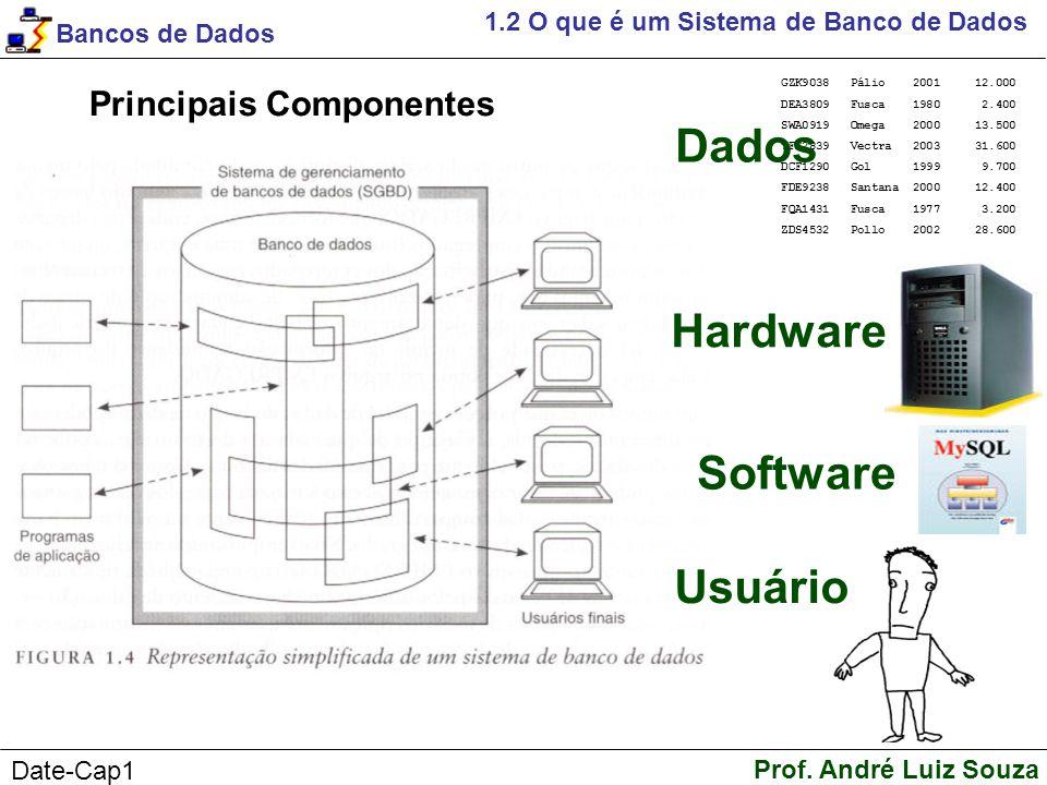 Dados Hardware Software Usuário Principais Componentes