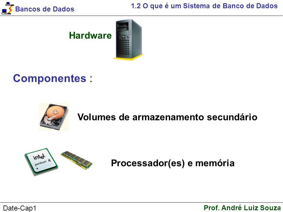 Componentes : Hardware Volumes de armazenamento secundário