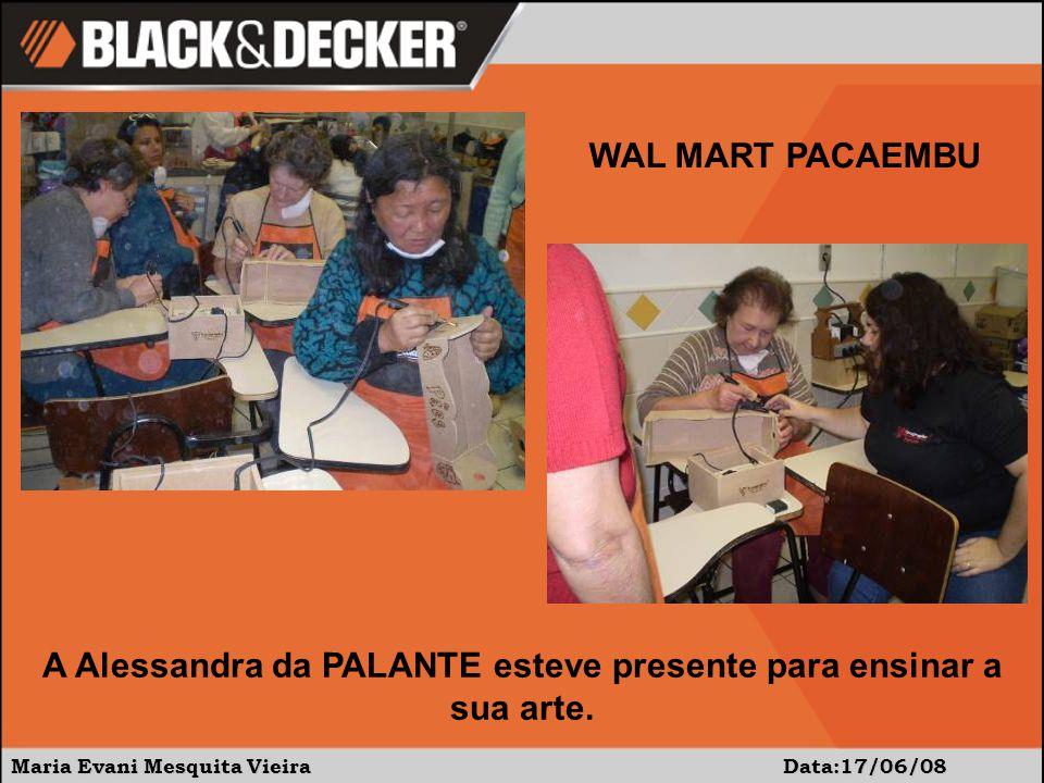A Alessandra da PALANTE esteve presente para ensinar a sua arte.