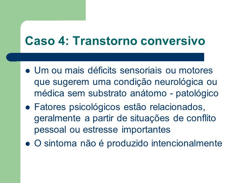 Caso 4: Transtorno conversivo