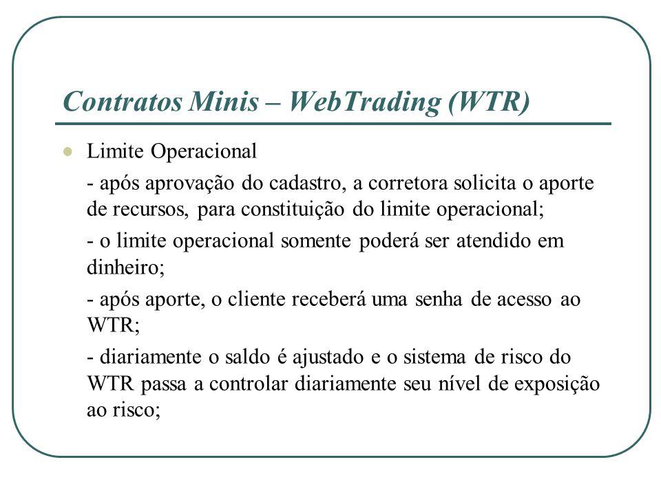 Contratos Minis – WebTrading (WTR)