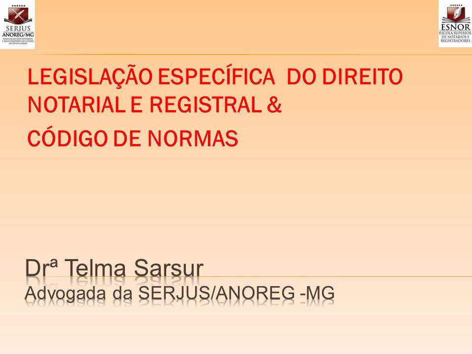 Drª Telma Sarsur Advogada da SERJUS/ANOREG -MG
