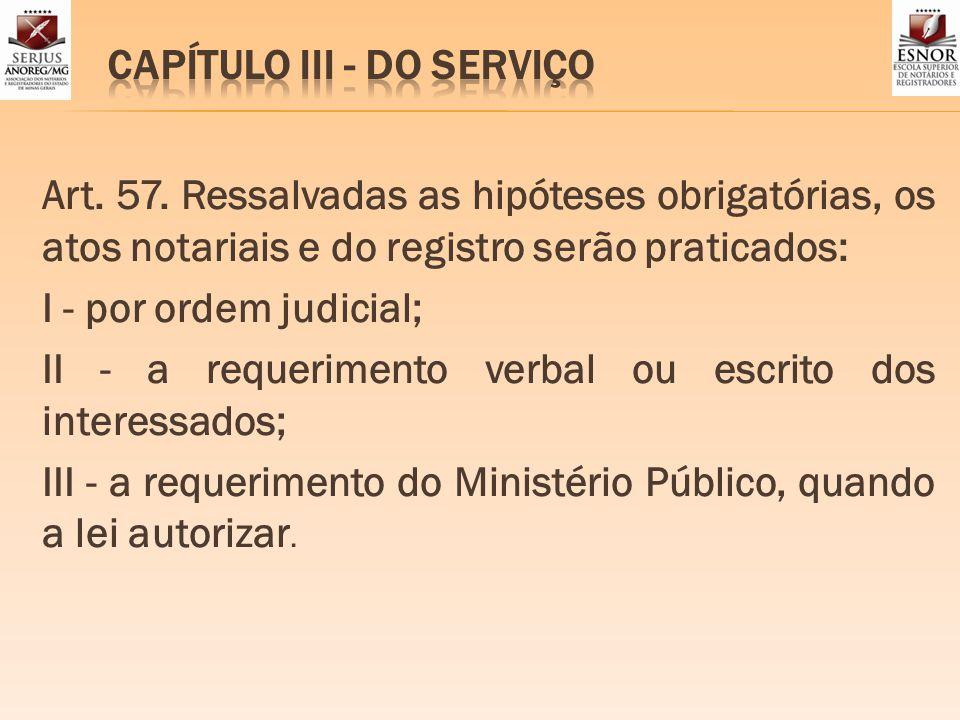 CAPÍTULO III - DO SERVIÇO