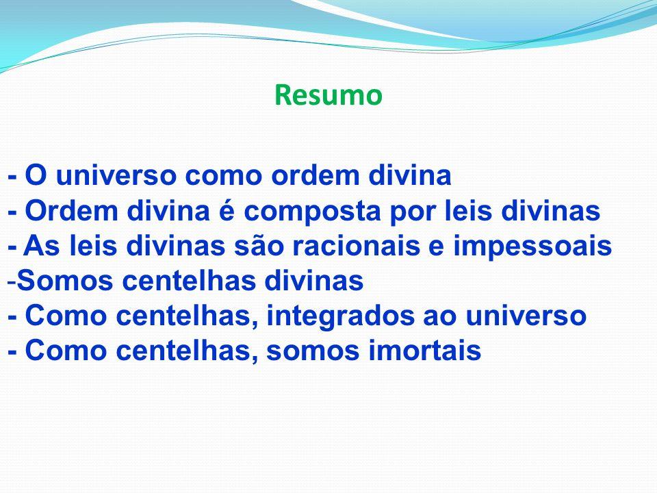 Resumo - O universo como ordem divina