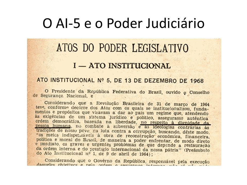 O AI-5 e o Poder Judiciário