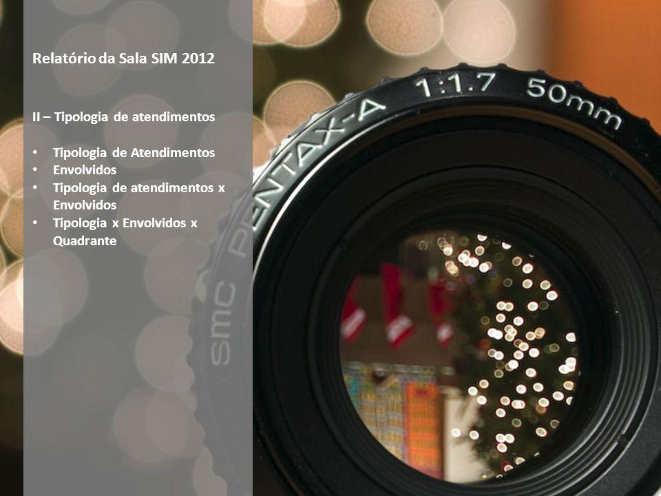 Relatório da Sala SIM 2012 II – Tipologia de atendimentos