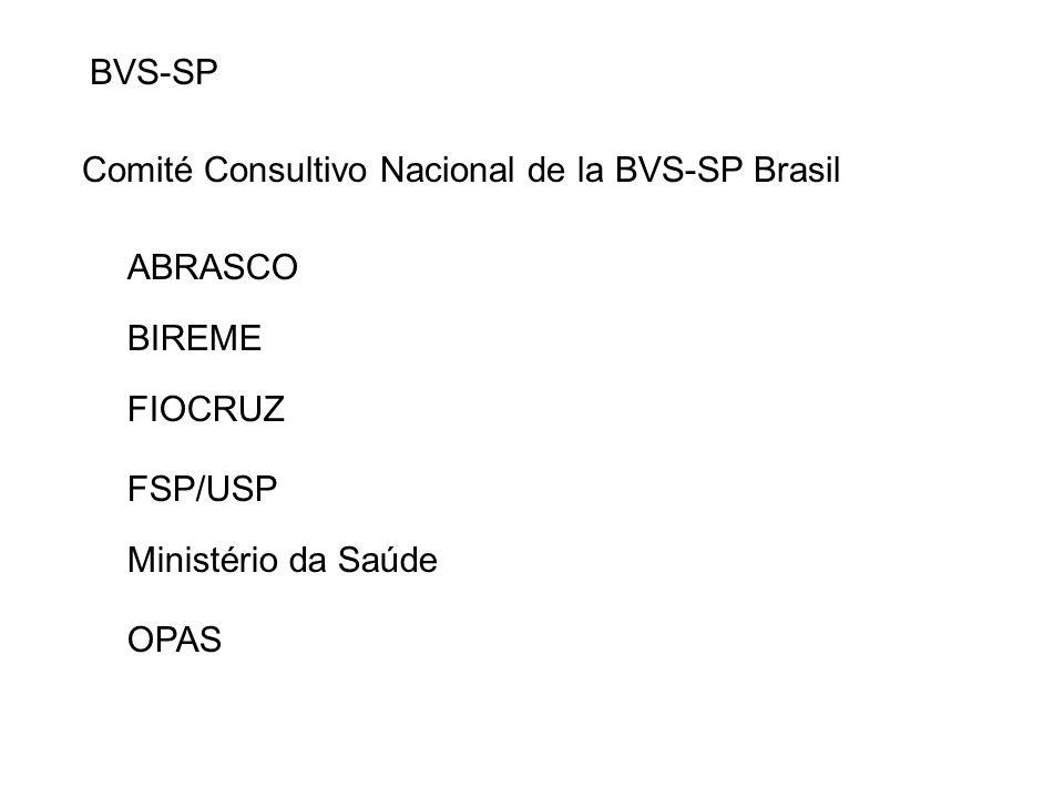 BVS-SP Comité Consultivo Nacional de la BVS-SP Brasil. ABRASCO. BIREME. FIOCRUZ. FSP/USP. Ministério da Saúde.