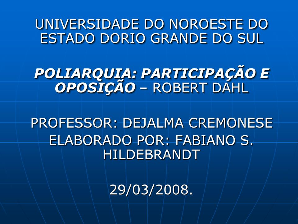 UNIVERSIDADE DO NOROESTE DO ESTADO DORIO GRANDE DO SUL