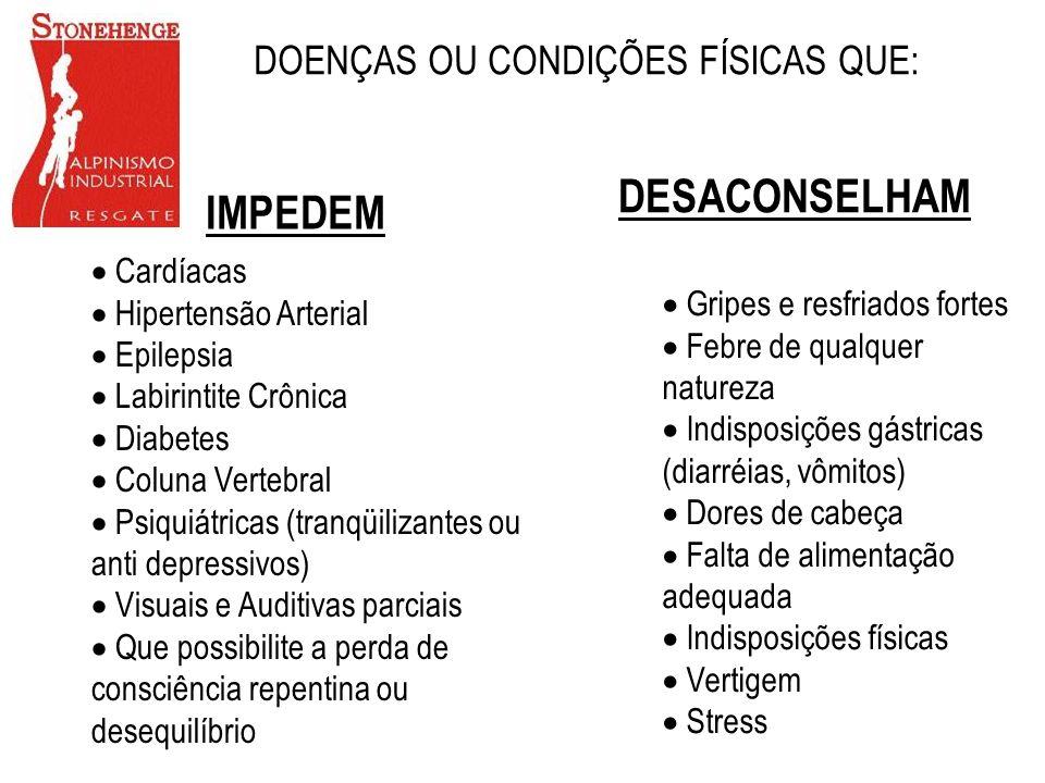 DOENÇAS OU CONDIÇÕES FÍSICAS QUE: