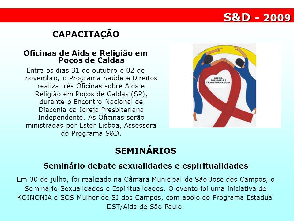 S&D - 2009 CAPACITAÇÃO SEMINÁRIOS