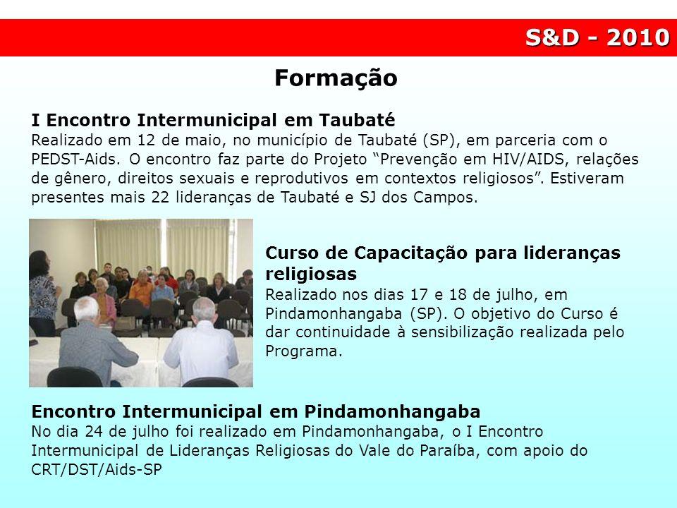S&D - 2010 Formação.