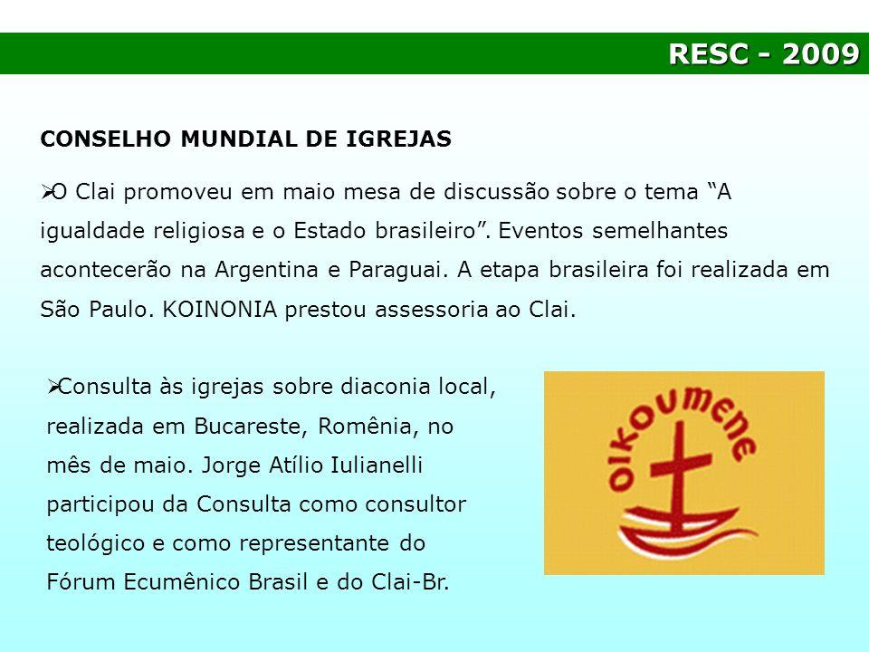 RESC - 2009 CONSELHO MUNDIAL DE IGREJAS