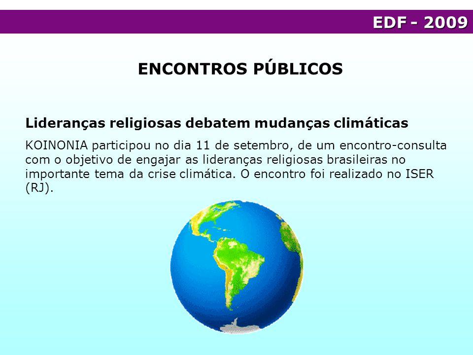 EDF - 2009 ENCONTROS PÚBLICOS