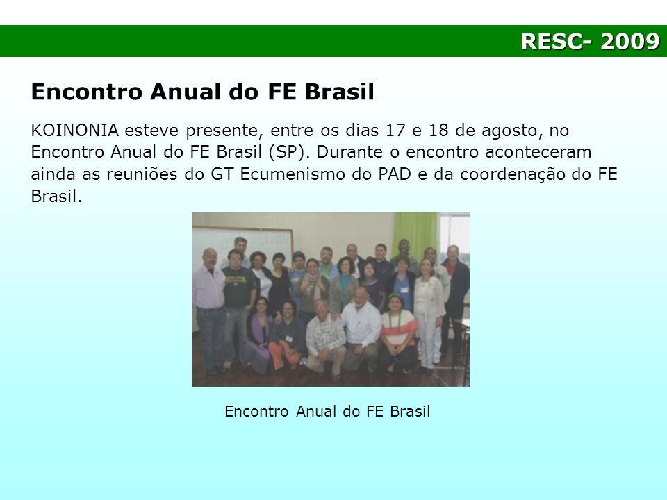 Encontro Anual do FE Brasil