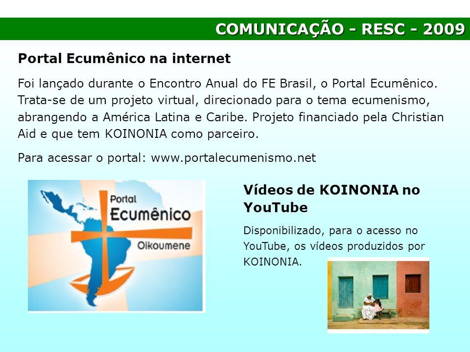 COMUNICAÇÃO - RESC - 2009 Portal Ecumênico na internet