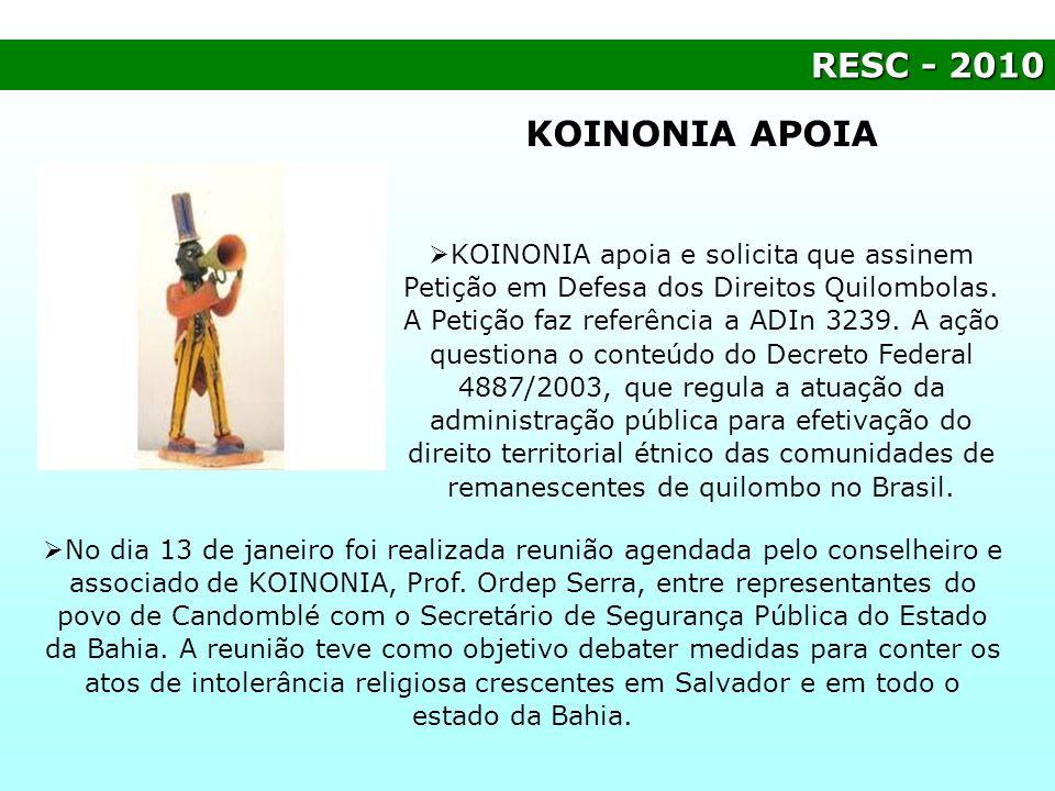RESC - 2010 KOINONIA APOIA.