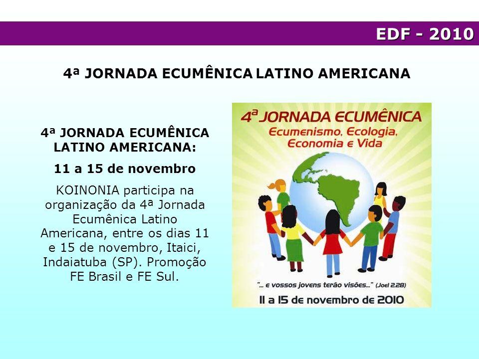 EDF - 2010 4ª JORNADA ECUMÊNICA LATINO AMERICANA