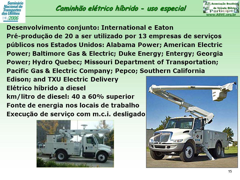 Caminhão elétrico híbrido - uso especial