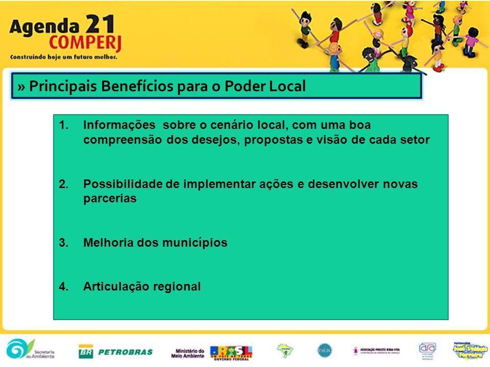 » Principais Benefícios para o Poder Local