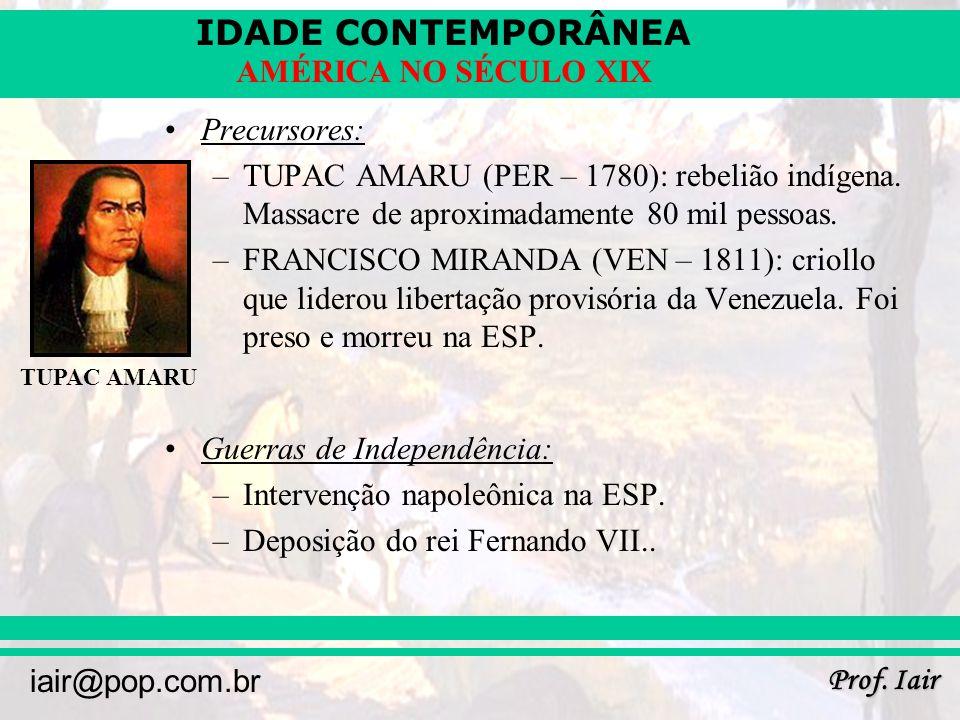 Guerras de Independência: Intervenção napoleônica na ESP.