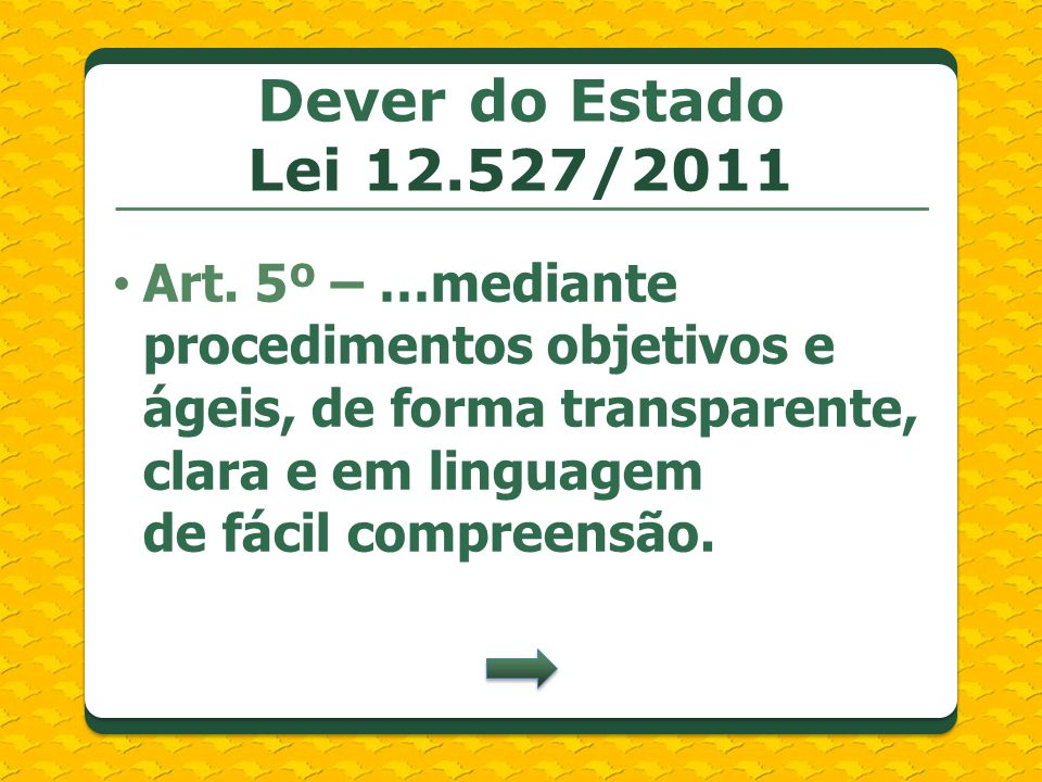 Dever do Estado Lei 12.527/2011