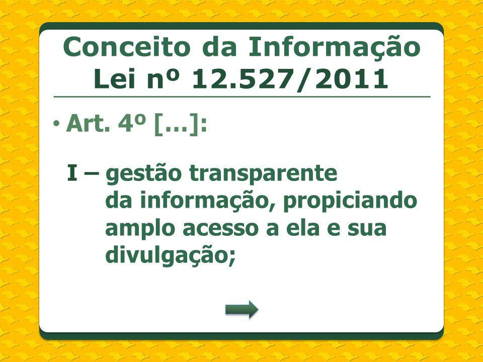 Conceito da Informação Lei nº 12.527/2011