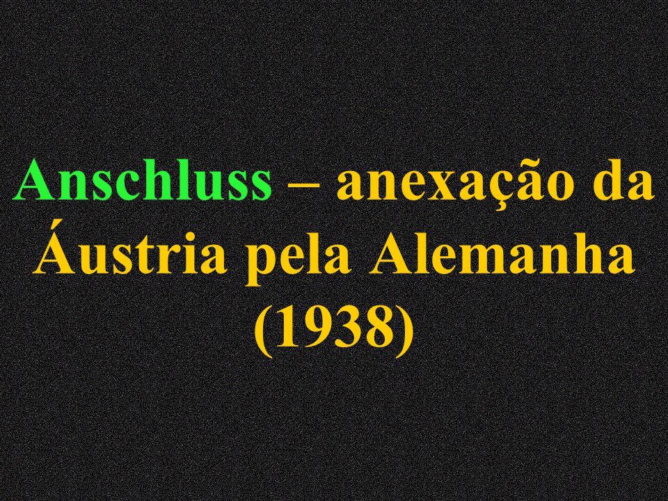 Anschluss – anexação da Áustria pela Alemanha (1938)