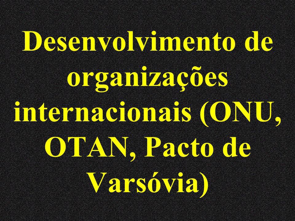 Desenvolvimento de organizações internacionais (ONU, OTAN, Pacto de Varsóvia)