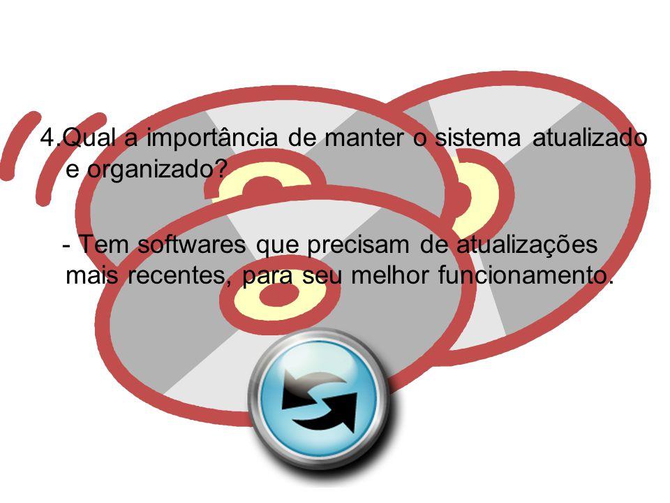 4.Qual a importância de manter o sistema atualizado e organizado
