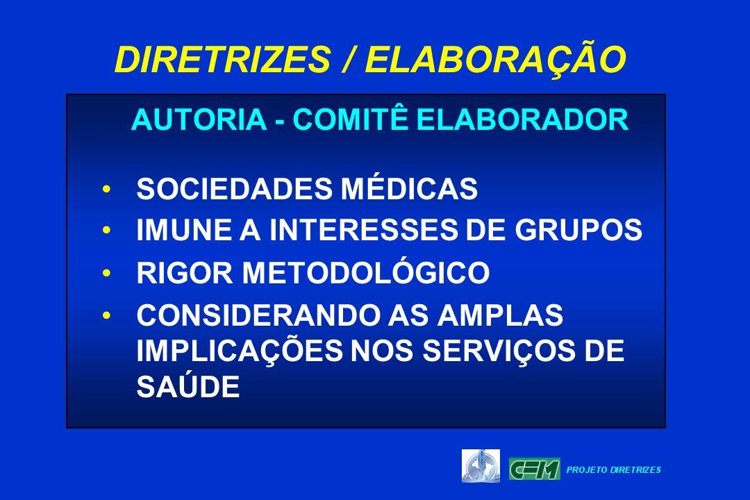 DIRETRIZES / ELABORAÇÃO AUTORIA - COMITÊ ELABORADOR