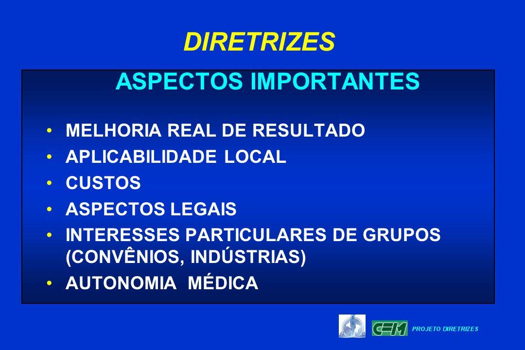 DIRETRIZES ASPECTOS IMPORTANTES MELHORIA REAL DE RESULTADO