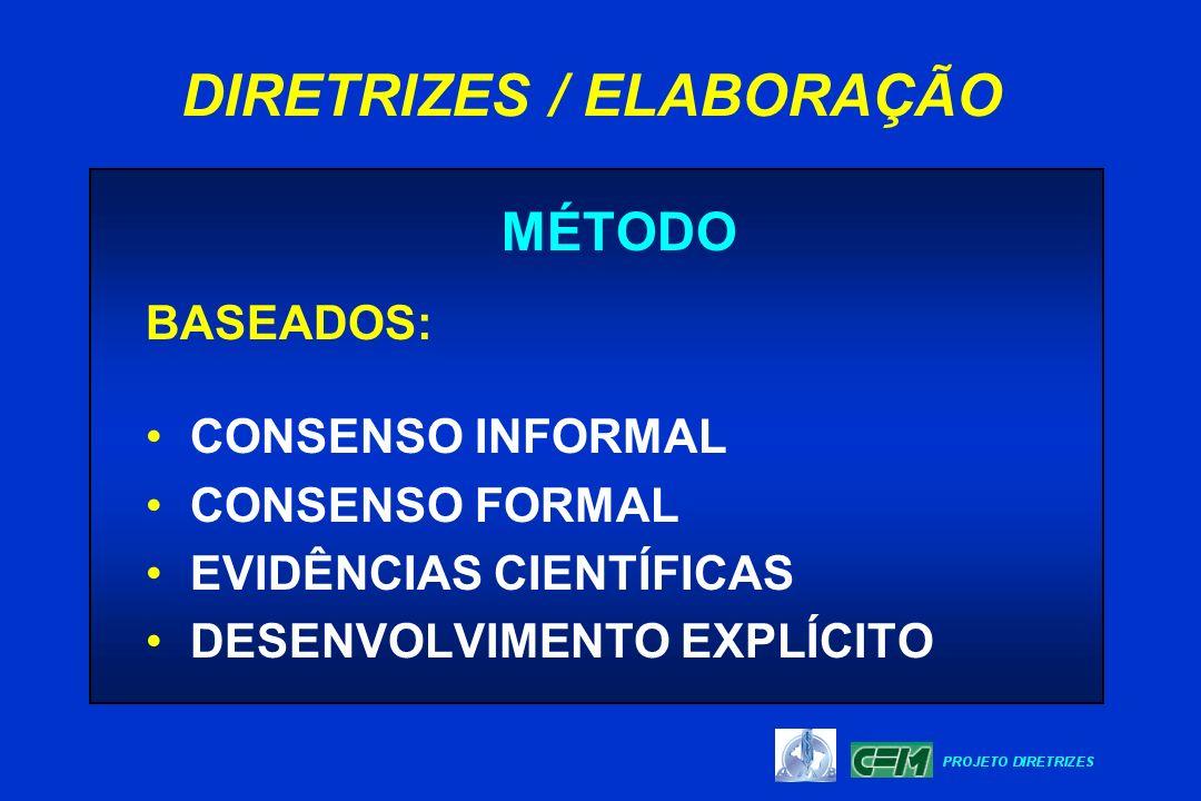 DIRETRIZES / ELABORAÇÃO